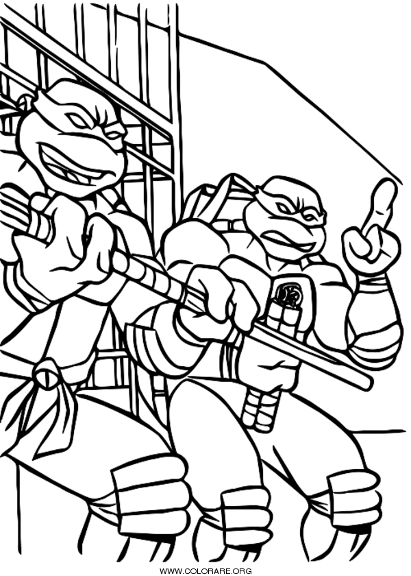 Tartarughe Ninja Disegni Da Colorare Colorare Org